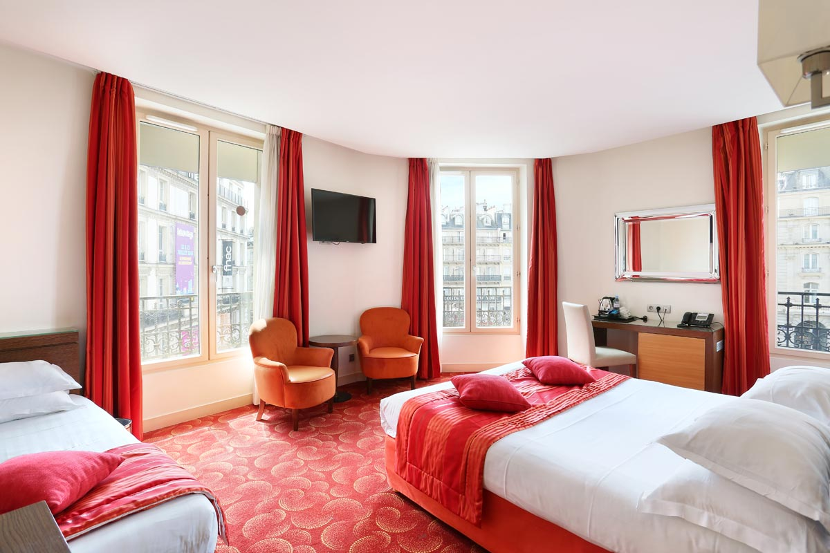 Junior suite grand h tel de normandie for Chambre hotel normandie